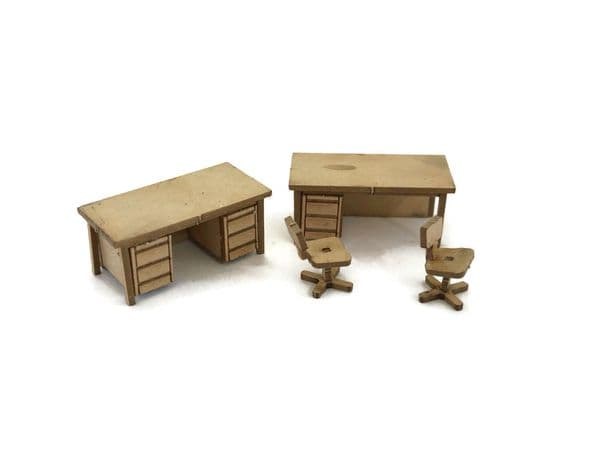 LX284-OO Office Desks & Chairs (Pack of 6) - OO/4mm/1:76